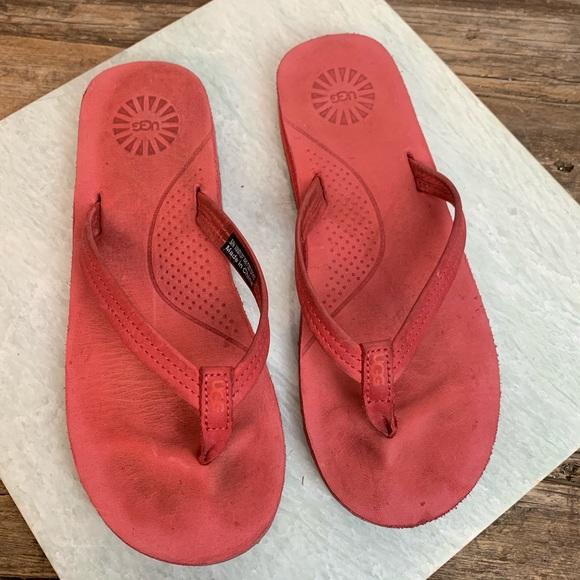 b1b3e02608b Ugg KAYLA Red Flip Flop Slip On Thong Sandal 6
